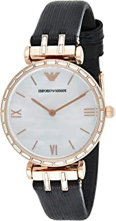 Emporio Armani Women's Mother Of Pearl Dial Leather Analog Watch - AR11295