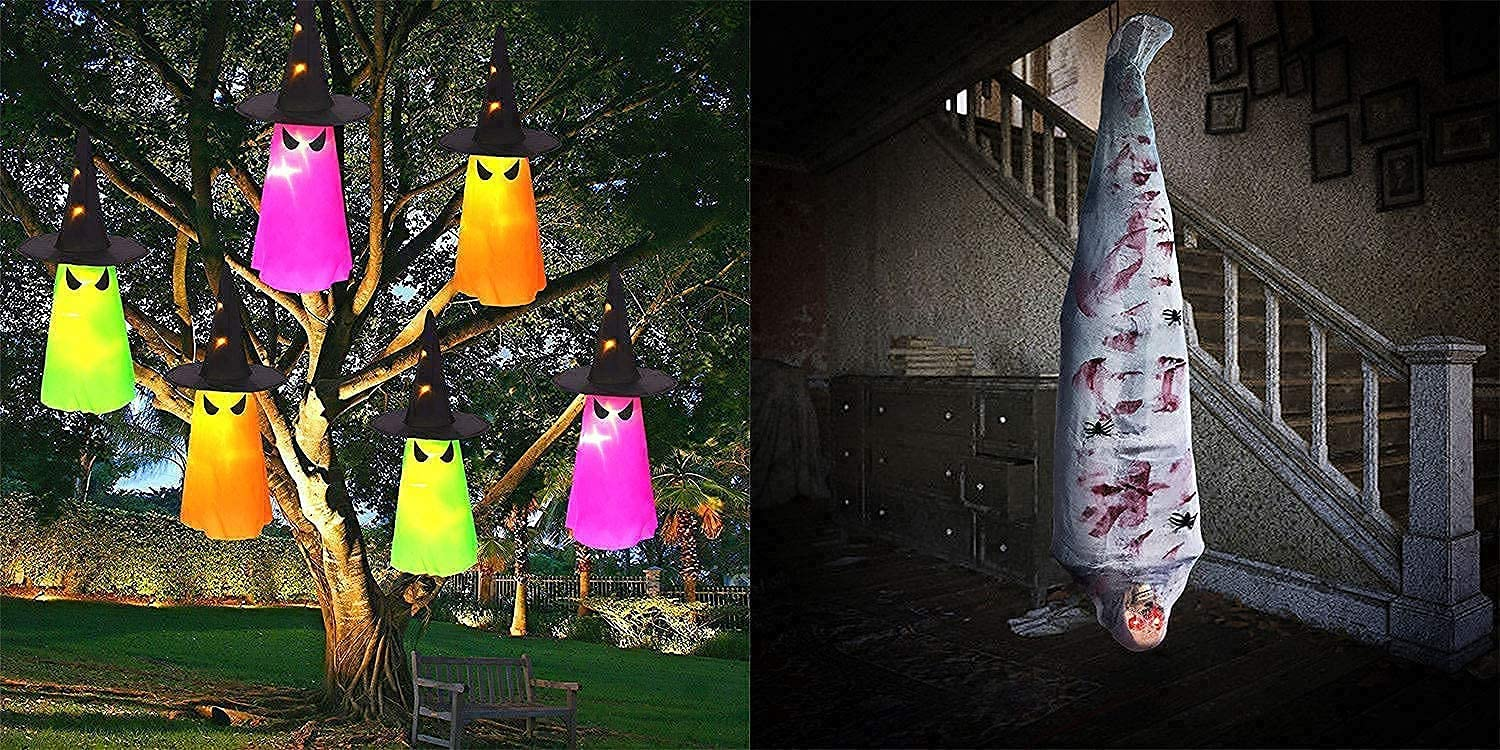 Ranking TOP2 New life MAOYUE Halloween Decorations Outdoor Hanging 6Pcs Lighted Glowin