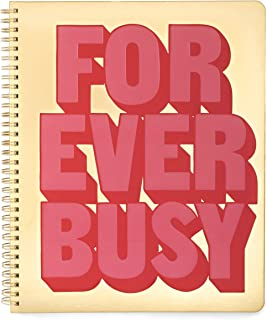 Ban.do Rough Draft Large Spiral Notebook, Forever Busy