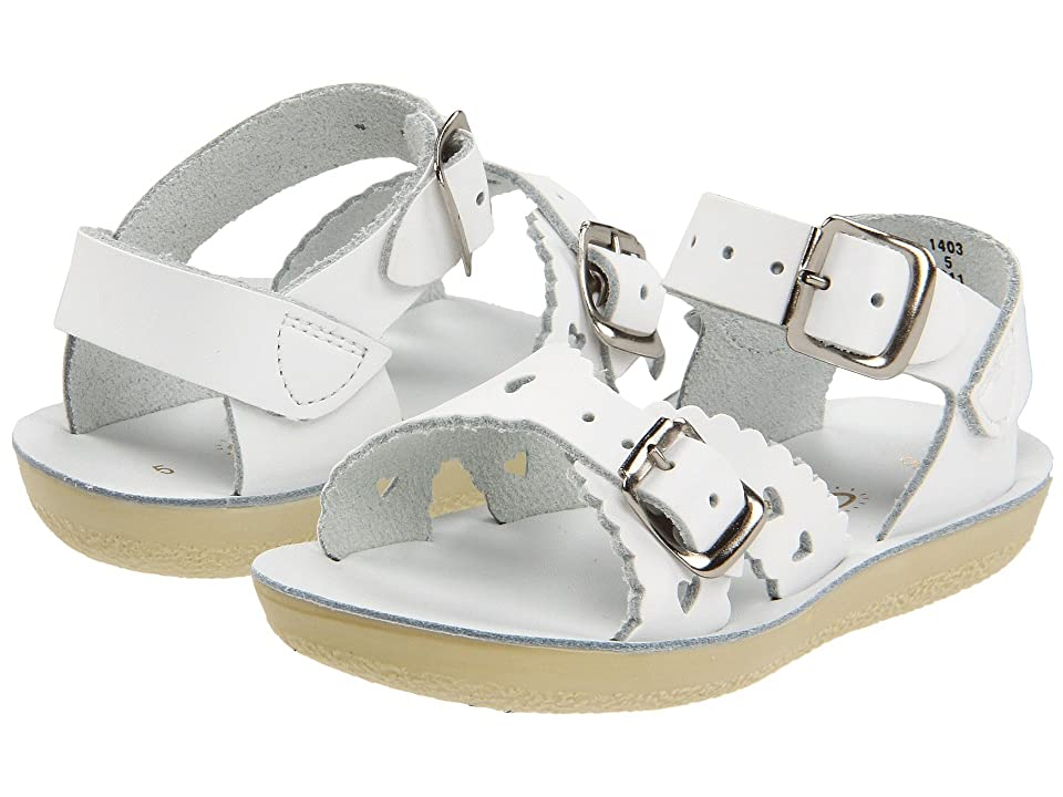 Salt Water Sandal by Hoy Shoes Sun-San Sweetheart (Toddler/Little Kid) (White) Girls Shoes