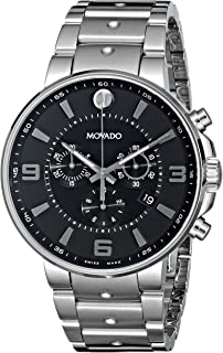 Movado Mens 0606759 SE. Pilot Stainless Steel Watch