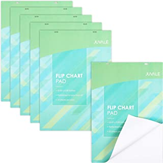 Easel Paper Pad, 25 Sheets Each, 2 Hole Punched (31.9 x 22.85 in, 6 Pack)