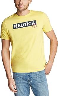 Nautica Men's Short Sleeve 100% Cotton Classic Logo Series Graphic Tee Shirt