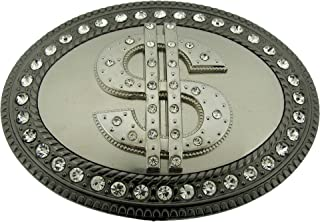 100 Dollar Us Bill Money Sign Duckets Reserve Currency Gun Metal Belt Buckle