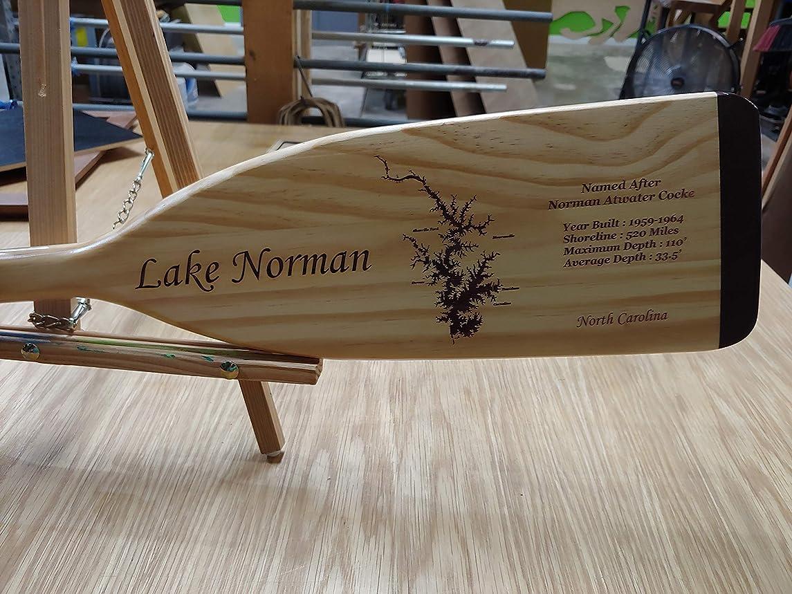 Lake Map Boat Paddle Lasered with Lake of Choice