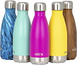 MIRA 12 oz Stainless Steel Vacuum Insulated Kids Water Bottle - Double Walled Cola Shape Thermos - 24 Hours Cold, 12 Hours...