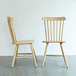 Livinia Ton Dining Chair, Solid Hardwood High Spindle...