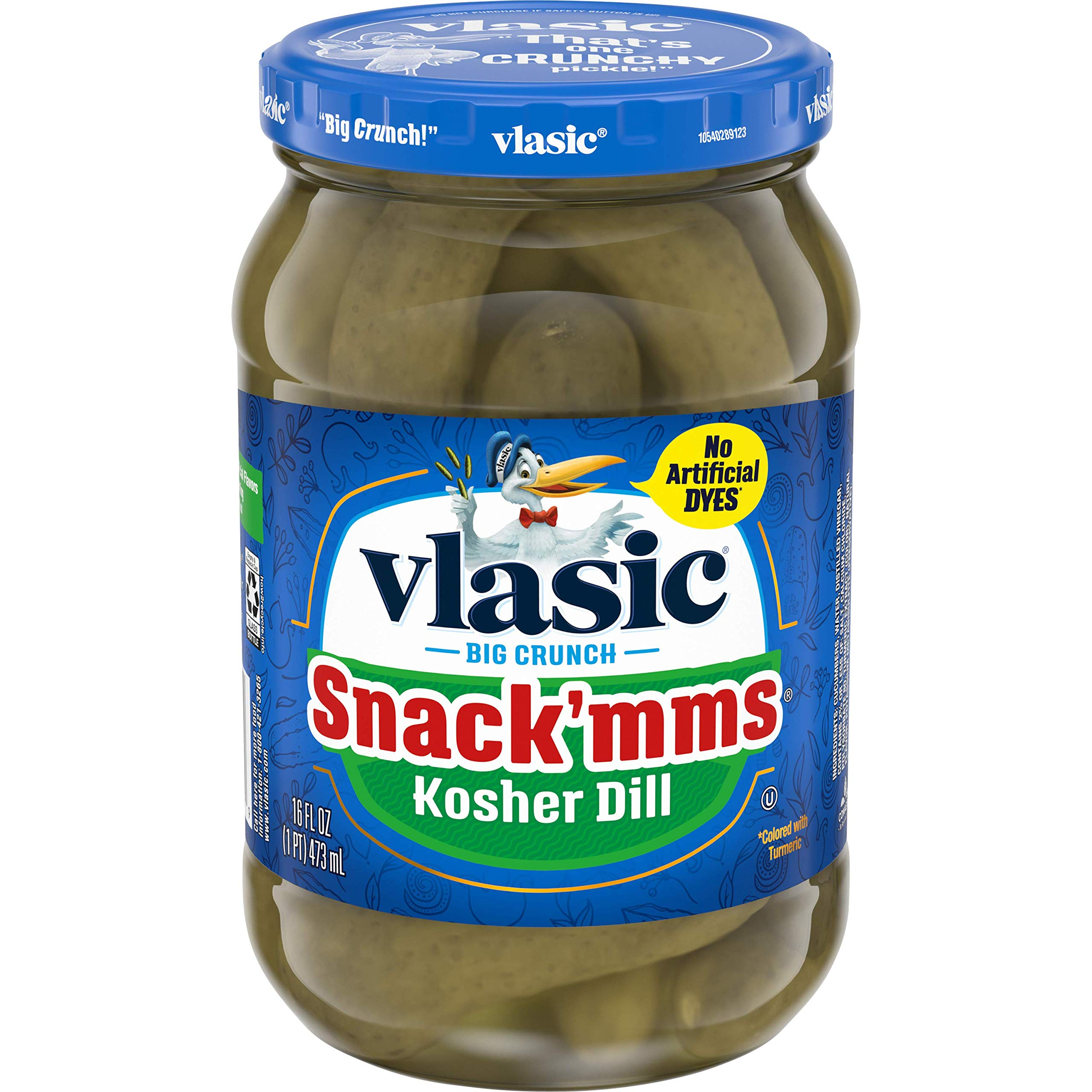 Vlasic Snack'mms Kosher Pickles Dill Minis