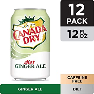 Canada Dry Diet Ginger Ale Fridgepack Soft Drink Cans, 12 oz