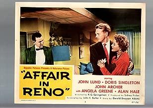 MOVIE POSTER: AFFAIR IN RENO-LOBBY CARD #5-1957-JOHN LUND-DORIS SINGLETON VF