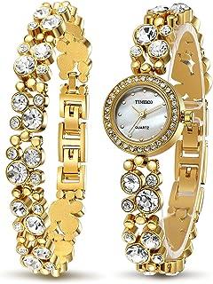 Time100 Women's WatchesBracelet Diamond Round Dial Watch Ladies Fashion Dress Watches Wrist Watches for Women