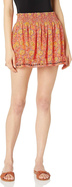 Ramy Brook Women's Standard Printed Jasmine Embellished Mini Skirt Coverup