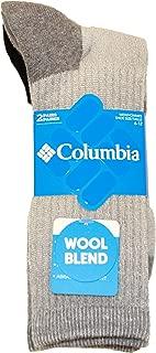 Men's Wool/Acrylic Blend Boot Crew Socks-2 Pairs