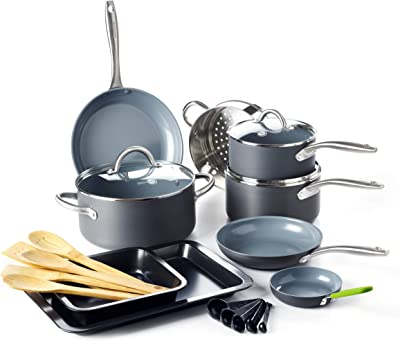 GreenPan Lima Ceramic Non-Stick Cookware Set, 18pc