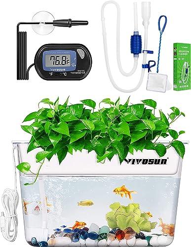 lowest VIVOSUN 1-Pack LCD Digital Aquarium Thermometer, Aquaponic Fish Tank, outlet online sale high quality Aquarium Gravel Cleaner Siphon online
