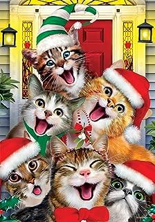 cat christmas flag