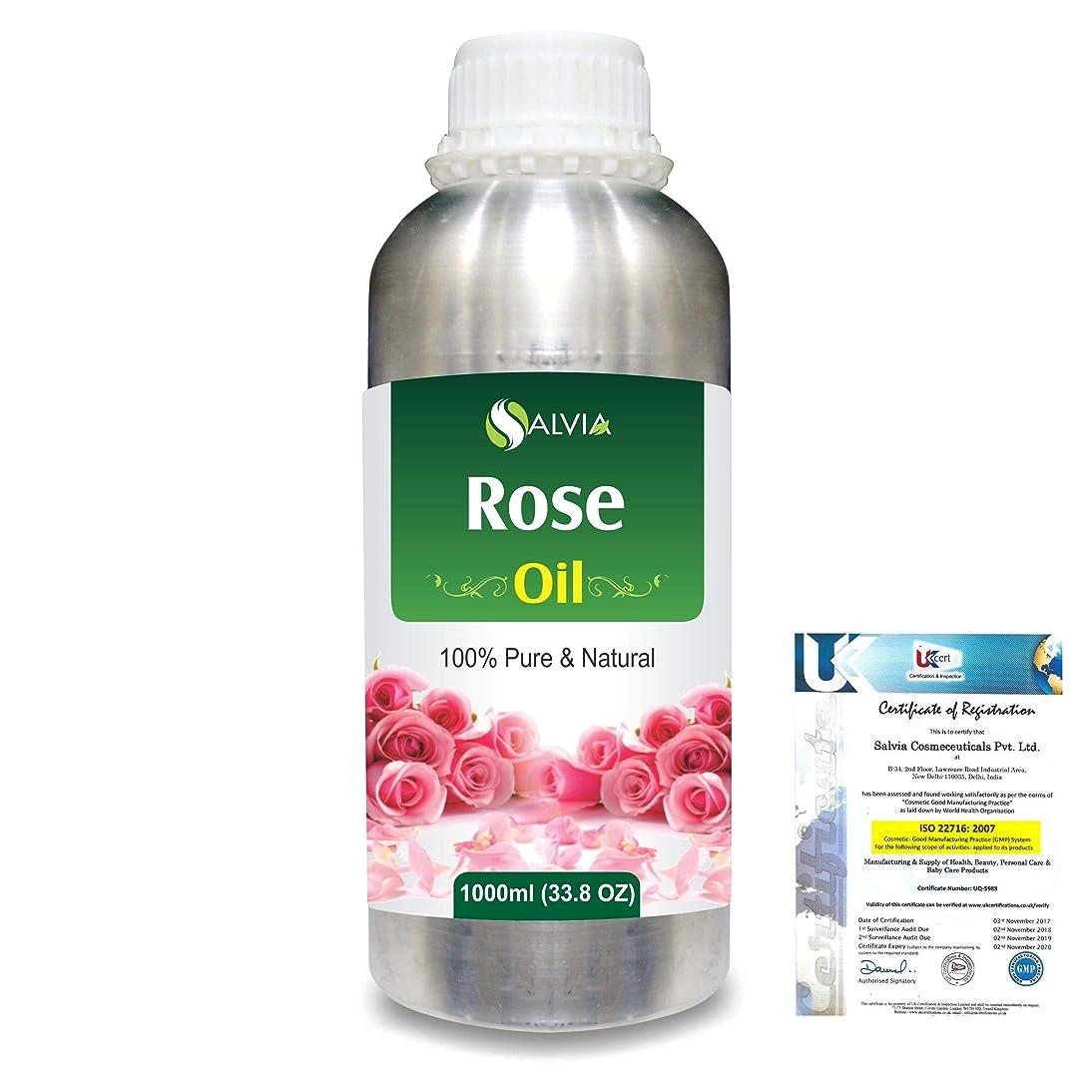 瞬時に細菌道徳教育Rose (Rosa Damacenia) 100% Natural Pure Essential Oil 1000ml/33.8fl.oz.