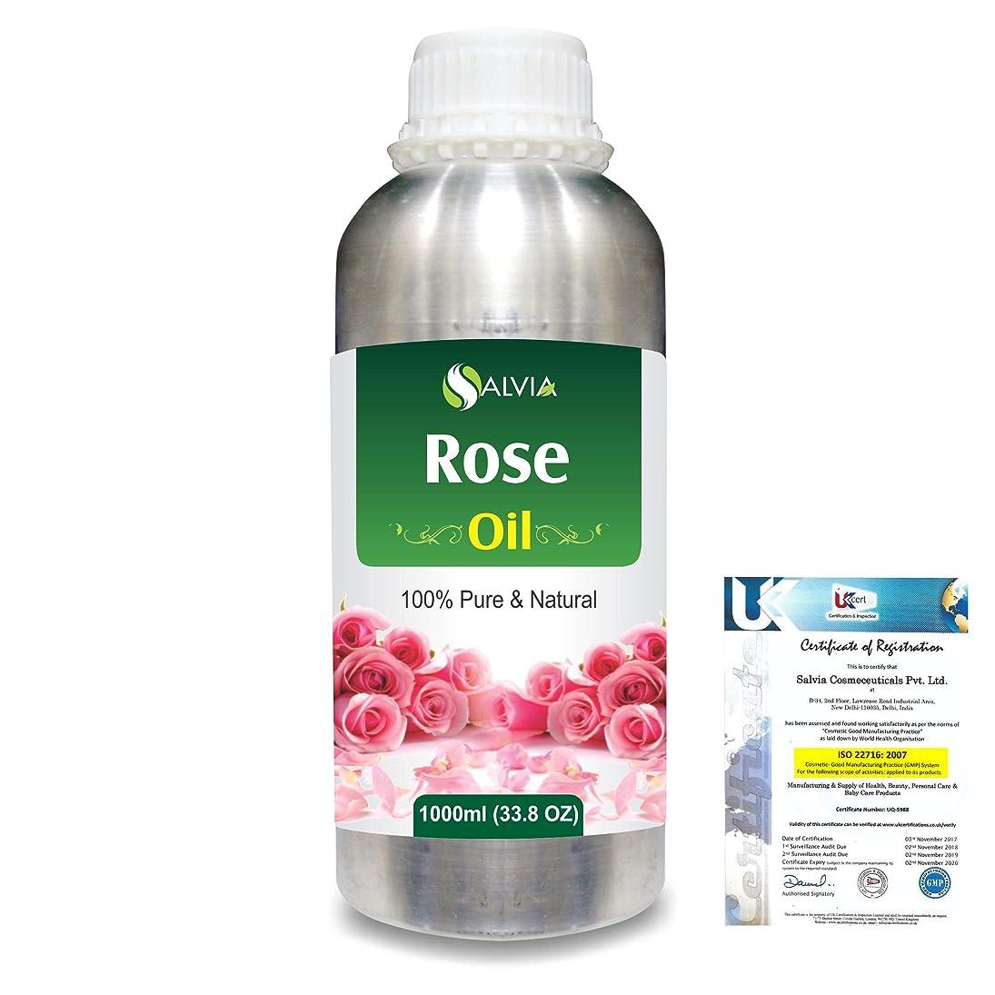 一致マイクロフォン飾り羽Rose (Rosa Damacenia) 100% Natural Pure Essential Oil 1000ml/33.8fl.oz.