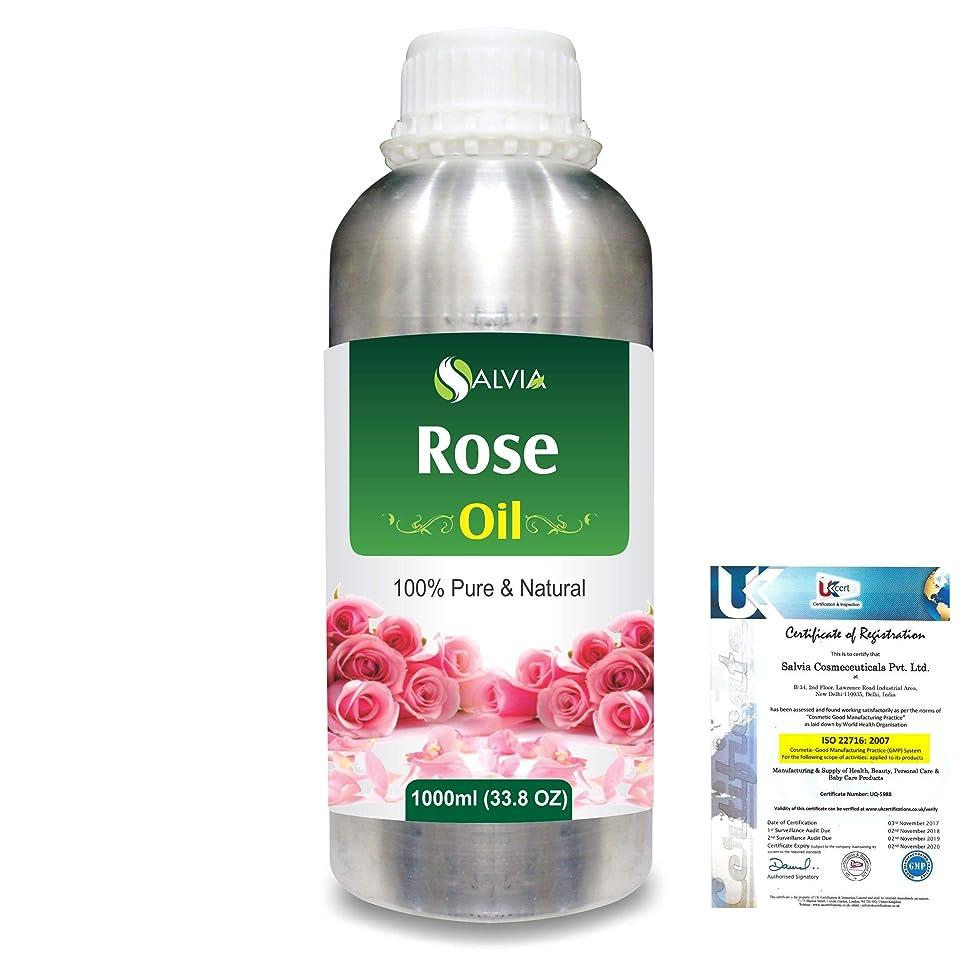 ペルメル否認するもRose (Rosa Damacenia) 100% Natural Pure Essential Oil 1000ml/33.8fl.oz.