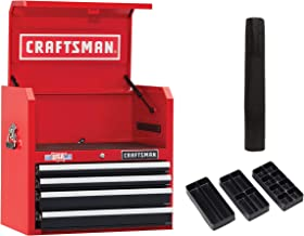 CRAFTSMAN Tool Chest with Drawer Liner Roll/Tray Set, 26-Inch, 4 Drawer, Red (CMST82768RB)