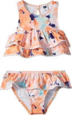 Watercolor Floral Two-Piece Swim Set (Toddler/Little Kids/Big Kids)