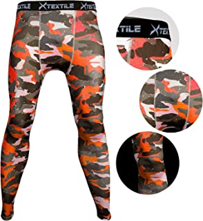 336aa502564ec Xtextile Mens Snow Camouflage Sports Compression Tight Cool Dry Sports Pants  Base Layer Running Leggings Yoga