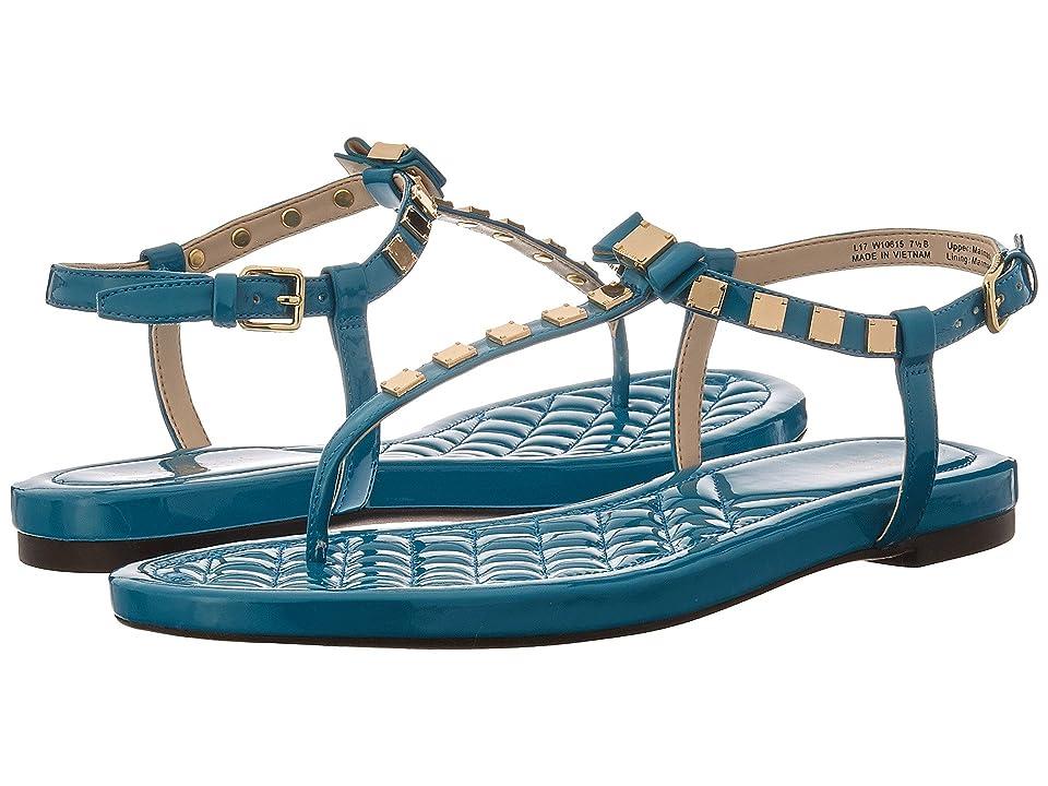Cole Haan Tali Mini Bow Studded Sandal (Tahitian Tide Patent) Women's Sandals, Blue