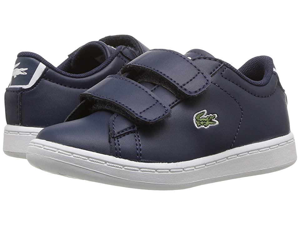 Lacoste Kids Carnaby Evo HL (Toddler/Little Kid) (Navy/Navy) Kids Shoes