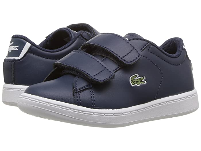 Medium US Toddler Lacoste Girls Carnaby EVO Sneaker Gold//White 4