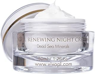 Vivo Per Lei Dead Sea Night Cream - Moisturizing Night Cream with Shea Butter - Night Recovery Cream for Anti Aging - Night Moisturizer to Refresh Skin - 60 Milliliter / 1.76 Fl. Oz.