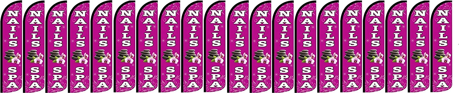 Sale Nails SPA King Windless Flag- Pack Hardware Included of 20 not Attention brand