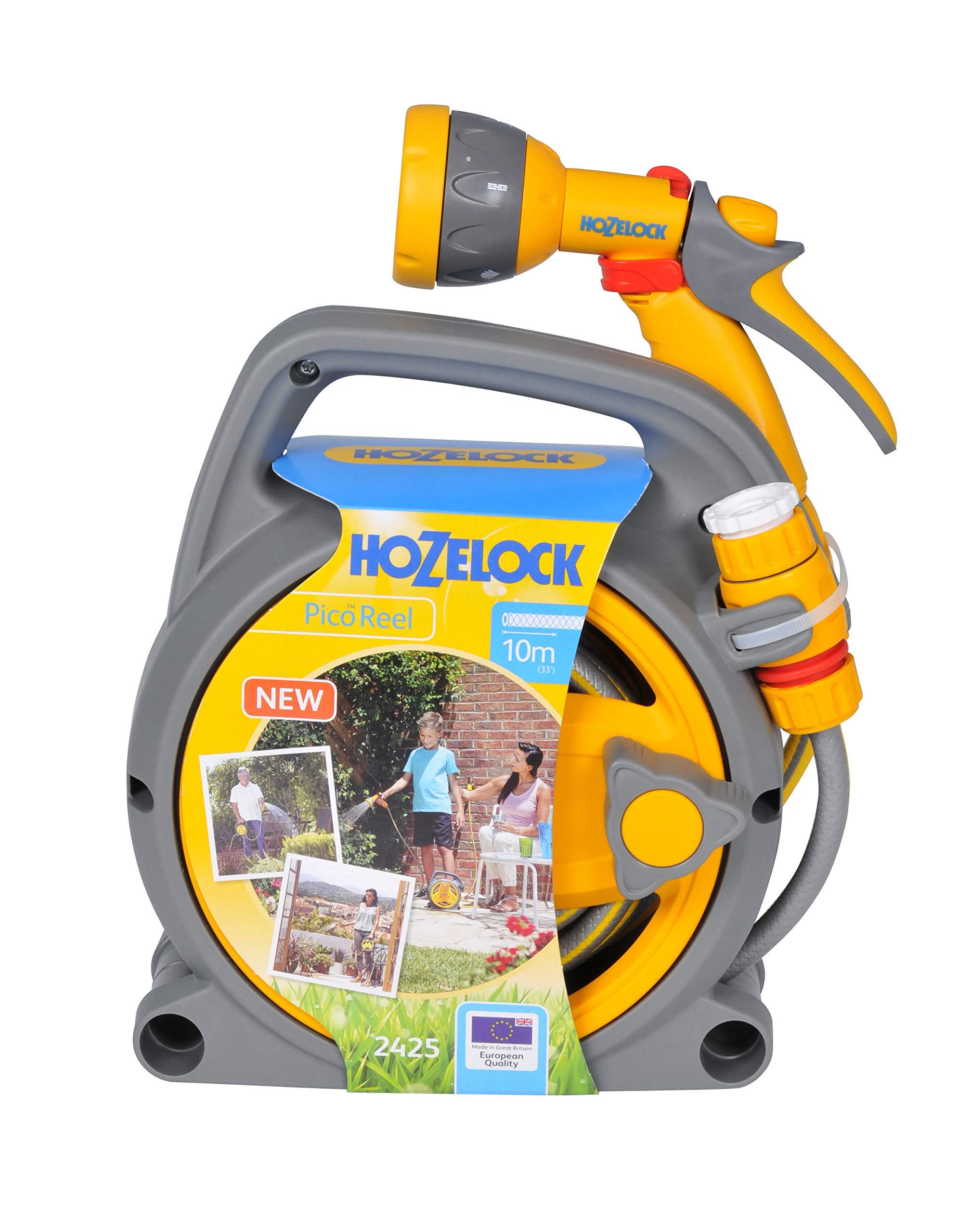 Hozelock - Carrete portamangueras Pico Reel con 10 m de manguera y todos los accesorios - lista para su uso: Amazon.es: Jardín