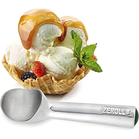 Zeroll 1016 Original Ice Cream Unique Liquid Filled Heat Conductive Handle Simple One Piece Aluminum Design Easy Release 32 Scoops per Gallon Made in USA, 2.5-Ounce, Silver