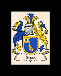 Carpe Diem Designs Knox Coat of Arms/Knox Family Crest 8X10 Photo Plaque, Personalized Gift, Wedding Gift