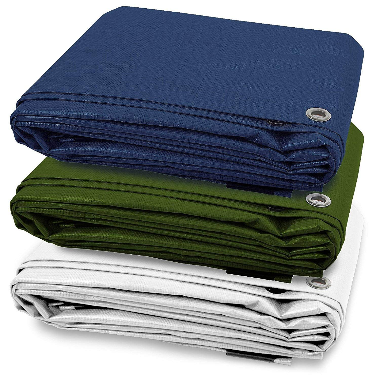 ETM/® disponible en varios tama/ños y colores Lona impermeable con ojales densidad 90/g//m/² resistente al agua y a los rayos UV protecci/ón exterior azul