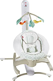 Fisher-Price 4 Motion Cradle 'n Swing with Smart Connect, Serene Green
