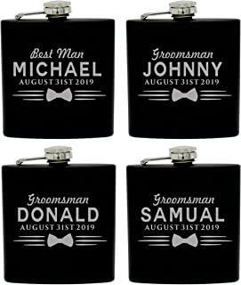 groomsmen flask and lighter set