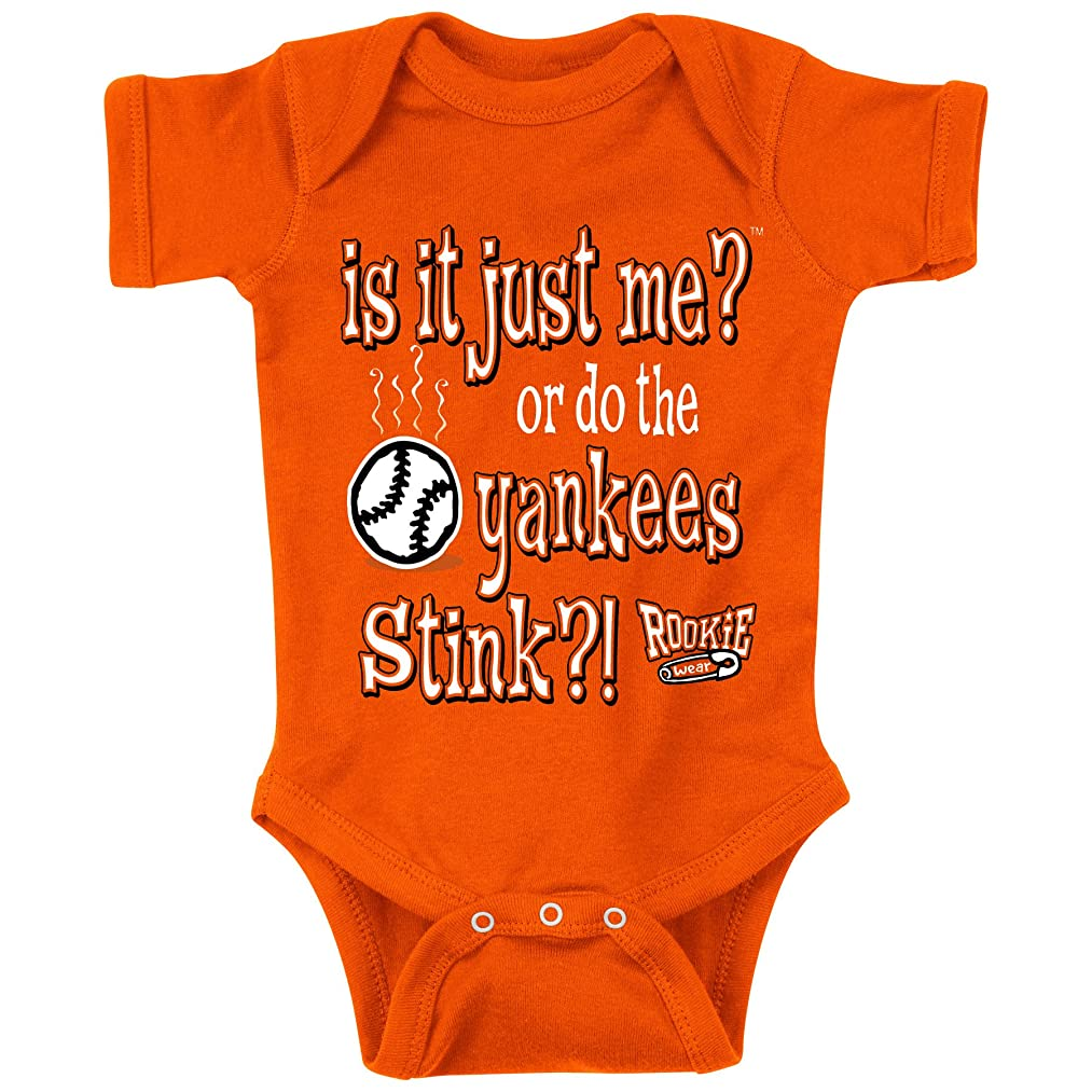 Baltimore Orioles Fans. is it Just Me!? Orange Onesie (6M)