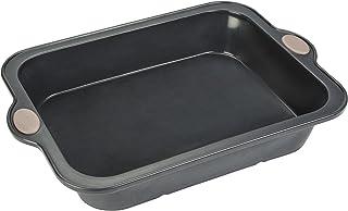 Levivo Molde de horno de silicona para tarta, molde de silicona para tarta, molde de silicona para bizcocho, molde de silicona, molde para bizcochos, molde de silicona para horno, 26 x 20 cm, gris