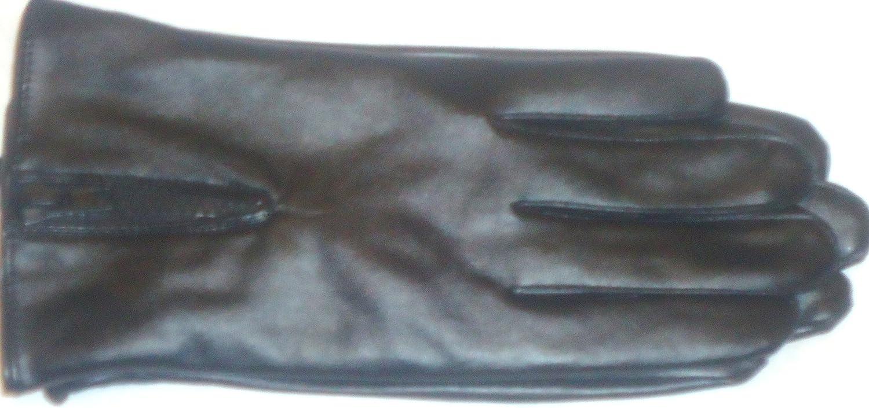 Glv437 Black Leather Thinsulate Lining Women's Fashion Gloves Medium