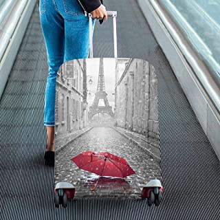 Suitcase Protectors Dust Proof Luggage Covers Fit 18-28 Inch Luggage red umbrella and Eiffel tower