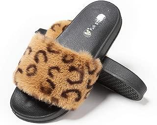 Best cheetah print fur slides Reviews