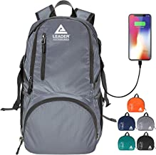 Leader Accessories 35L Ultra Lightweight Packable Backpack Foldable Daypack Handy Foldable Camping Bag