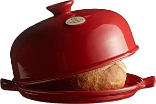"""Emile Henry Made In France Bread Cloche, 13.2 x 11.2"""""""", Burgundy"""