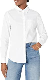 Women's Classic-Fit Long Sleeve Button Down Poplin Shirt