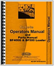 Kubota BF400G BF500 Loader for use on L2250 L2550 L2850 Tractor Operators Manual
