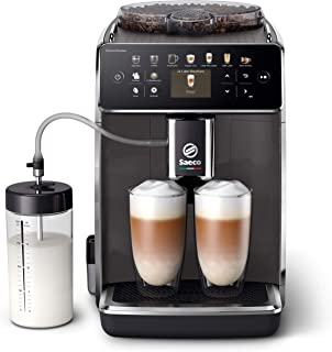 Philips Saeco Espressomachine - 14 Koffievariaties - 4 Gebruiksprofielen - Kleurendisplay - Dubbele Espresso - Latteduo me...
