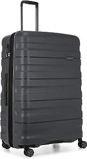 Antler Juno 2 4W Large Roller Suitcase Hardside, Charcoal, 81cm
