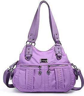 Satchel Handbag for Women, Light Weight Multi-pockets Casual Nylon Crossbody Bag, Shoulder Bag, Tote Purse