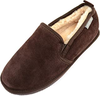 SNUGRUGS Henley, Mens Sheepskin Slipper with Rubber Sole